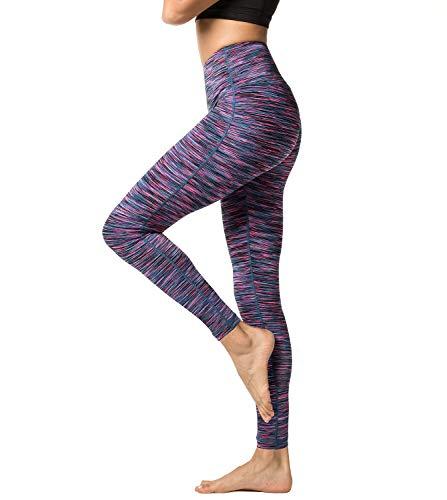 LAPASA Damen Sport Leggings hoher Bund Taschen Yoga Pants Push Up High Waist L01