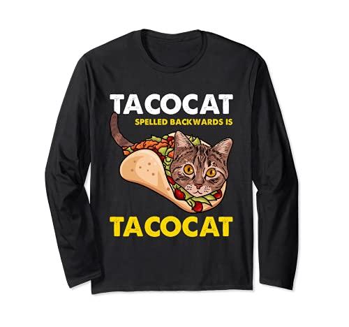 Lustige süße Tacocat Taco-Katze mit Dinkelspelz Langarmshirt