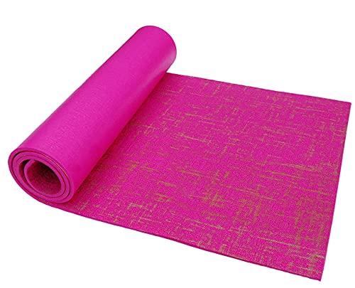 N\C rutschfeste, umweltfreundliche Yogamatte aus Leinen, Meditationsmatte, Dicke 4/5 mm, Größe 173CMX61CM und 183CMX61CM, weiche Textur, ausgezeichnete Elastizität, starker Griff