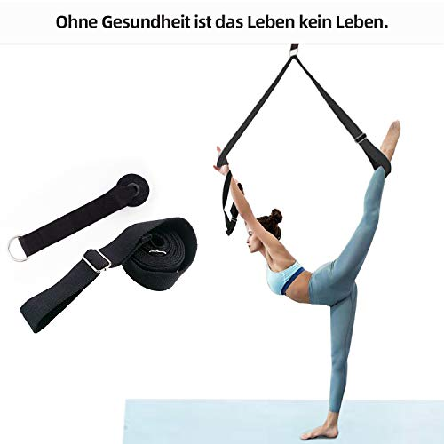 Yogagurt Gurt Beinstretcher, Stretch Band für Yoga Ballett Training Gymnastik Ausrüstung