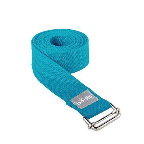 Yoga-Gurt ASANA BELT aus Baumwolle mit Schiebeschnalle aus Metall, praktisches Yoga-Zubehör, Basic...