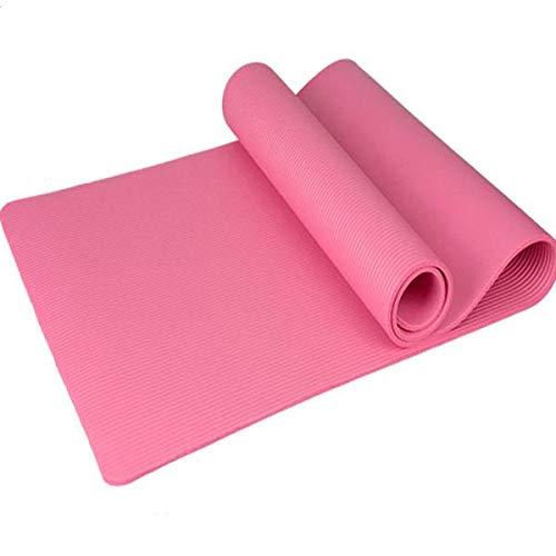 10mm dicke NBR Pure Color Anti-Rutsch Yogamatte 183x61x1cm Rosa1