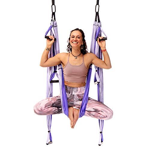 YOGABODY Yoga Trapeze Pro mit Videos und Pose-Chart, Lila