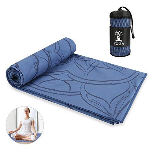 Maxjaa Handtuch für Yogamatte, Antirutsch Yogatuch mit hoher Bodenhaftung für Fitness Pilates & Gymnastik...