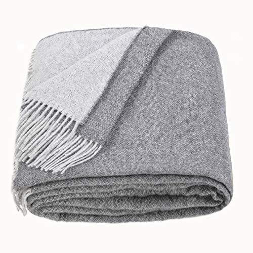 LoveYouHome Doppelseitige Wolle Merinowolle Decke-Kuscheldecke Extra groß Überwurf Merino (140 cm X 200 cm -...