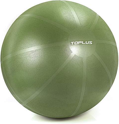 TOPLUS Gymnastikball, Gymnastikball, unterstützt 1000 Pfund Yoga-Ball, Anti-Burst & Extra Dick, Schweizer Ball mit Schnellpumpe, Geburtsball für Yoga, Pilates, Fitness (B-Olivgrün-65cm)