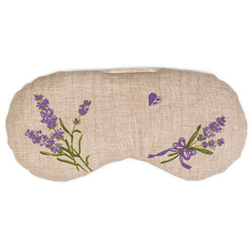Augenkissen Lavendel & Leinsamen, zur Entspannung, zum Kühlen, erwärmen oder für Yoga (Farbe:' Sorgenfrei')