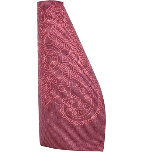 Lotus Design Yogamatte Rutschfest 4mm, Mandala Muster, ÖKOTEX Made in Taiwan, Yoga Matte Bunt, Bedruckt, Waschbar, Jogamatte Schadstofffrei, Leicht, Dünn und Günstig für Anfänger