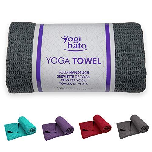 Yogibato Yoga Handtuch rutschfest & schnelltrocknend – Yogahandtuch Antirutsch – Mikrofaser Yogatuch –...