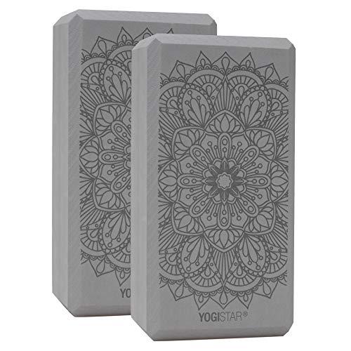 Yogistar Yogablock Yogiblock Basic Art Collection - Lotus Mandala - Graphit (2 Stück)