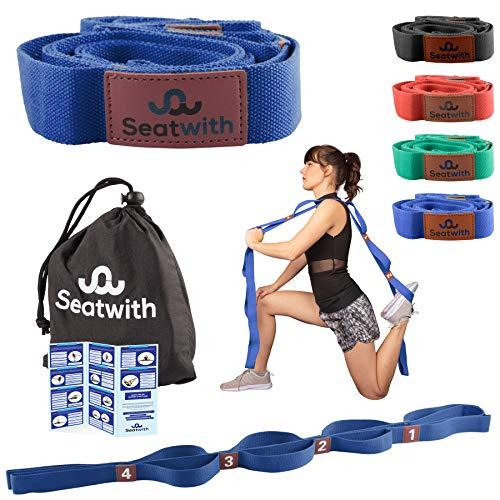 Gymnastik-Gurt mit 10 Schlaufen | Yoga-Gurt 200 x 4 cm | Stretch-Strap für mehr Beweglichkeit | Gratis...