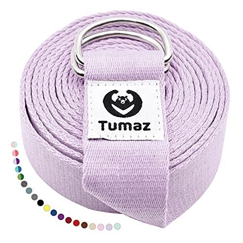 Tumaz Yoga Gurt/Yoga Strap [15+ Farben, 180/240/316 cm] Baumwolle mit Extra Sicherer, Einstellbarer...