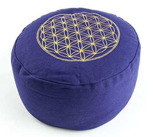 Berk YO-21-LI Meditations-Zubehör - Blume des Lebens Meditationskissen, lila