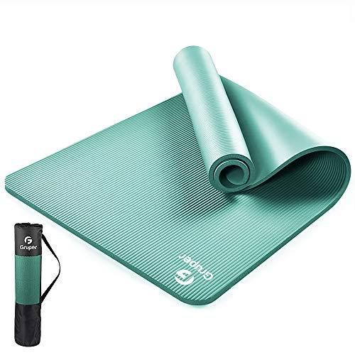 Gruper Yogamatte rutschfest, 183cm Länge 80cm Breite,Gymnastikmatte rutschfest und Fitness-Matten+Trageband + Tasche, Workout-Matte für alle Arten von Yoga, Pilates