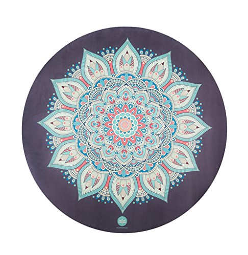 Hyococ Yoga-Matte Runde Yogamatte, Rutschfestes Rundes Meditationskissen Bewegung Fitness Naturkautschuk Yogamatte Teppich Verdickung 150x150cm Fitnessstudio Matten