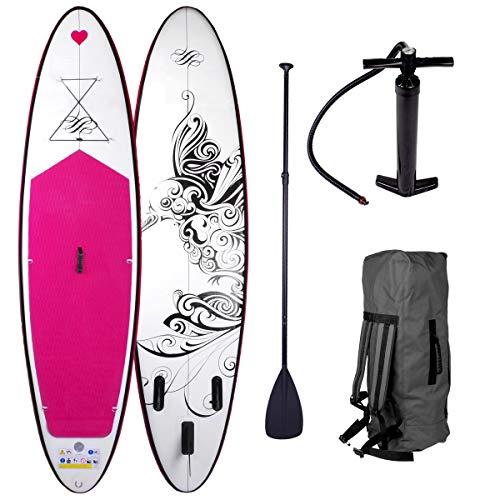 Stand Up Paddle Paddling SUP Board Damenboards Kolibri 300x76x15cm aufblasbar Alu-Paddel Pumpe Rucksack...