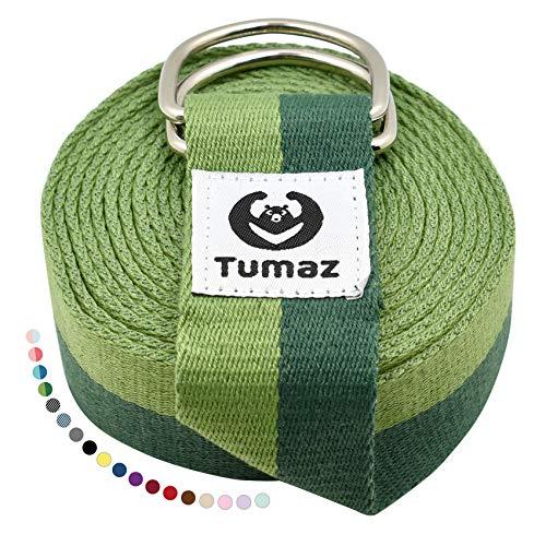 Tumaz Yoga Gurt/Yoga Strap [15+ Farben, 180/240/306 cm] Baumwolle mit Extra Sicherer, Einstellbarer...
