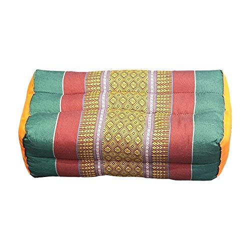 VIE Naturals Traditionelles Thai Kapok Yoga / Meditationskissen, 35 cm Größe, Sortiert Farben, Multicoloured, VN6001-ASS-Yoga-Cushion-35x15x12cm