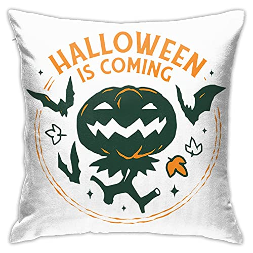 Halloween kommt Dekokissenbezüge 18x18 Zoll Kissen Fall Quadrat Kissenbezug Fällen Kissenbezug Sofa Wohnkultur