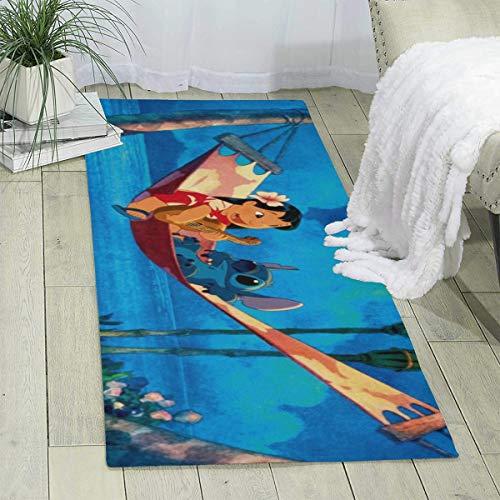 Lilo Stitch Area Teppiche, superweich, für den Innenbereich, geeignet für Kinderzimmer, Wohnzimmer, Dekoration, Kindergarten-Teppiche, 177,8 x 61 cm