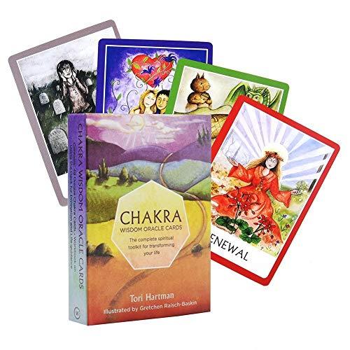 URNOFHW Chakra-Tarot-Karten-Brettspiel-Karten-magische Tarot Deck englische Ausgabe Mysterious Tarot Brettspiel Familie Karten Spiel 1