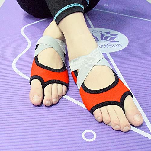 GDL Bandage Professional Yoga Schuhe bodenlose Luftrutsch-Fitness-Fingerlose Refers zu Fünf-Finger-Adult-Yoga-Socken,Orange,S