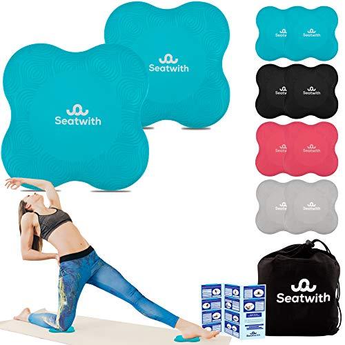 Yoga-Knie-Pad 2er Pack Kniekissen mit Transportbeutel+Trainingsanleitung PDF Maximale Entlastung und...