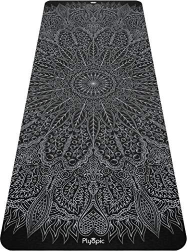 Plyopic Yogamatte mit Muster | Umweltfreundliche, Rutschfeste Matte mit Trageriemen. 6mm Dicke. Ideal für Yoga, Pilates, Fitness, Übungen und Workouts (Mandala)