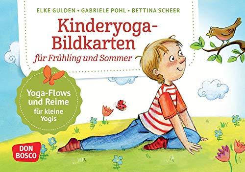 Kinderyoga-Bildkarten für Frühling und Sommer: Yogaflows und Reime für kleine Yoginis. Einfache...