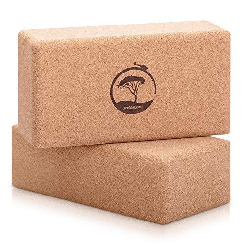 treelifekarma Yoga Block Kork 2er Set - plastikfreie Leichtgewichte - ergonomisch, rutschfest & stabil -...