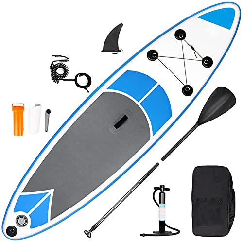 inty Aufblasbares Stand Up Paddle Board ISUP Surf Board 6 Zoll Dick Komplett-Set SUP Board,...