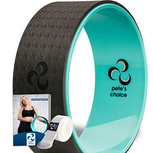 pete's choice Dharma Yoga-Rad mit eBook inklusive & Yogagurt - Bequem & langlebiges Yoga-Zubehör I Yoga Wheel...