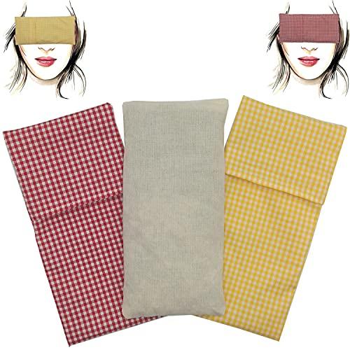 Augenkissen'Pack Duo - Prater' (1 Füllung und 2 waschbare Bezüge) | Lavendel Samen und Reis | Yoga, Meditation, Entspannung, für Ihre Augen