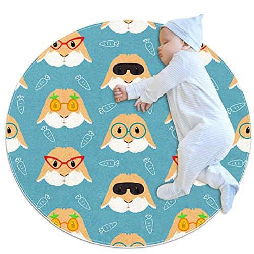 Kinderkreis-Teppich-Teppichmatten, die im Wohnzimmer des Familienschlafzimmers verwendet Werden, Modeohrbrillen