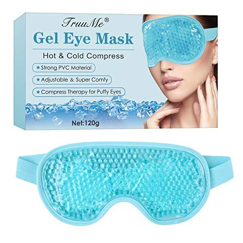 Augenmaske Kühlend, Augen Kühlmaskez, Gel Augenmaske, für Geschwollene Augen, Cooling Eye Mask, Trockene Augen und Kopfweh Augenringe Tränensäcke & Migräne Anregung Durchblutung/Entspannung