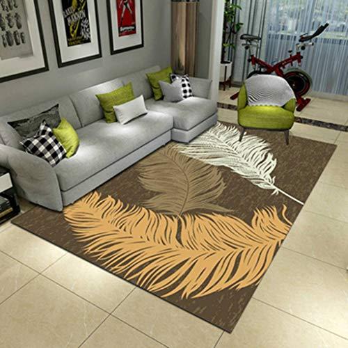 MINYU Teppich, modisch, weich, dekorativ, zottelig, europäischer Stil, pflegeleicht, flauschig, wasserdicht, schick und rutschfest, für Schlafzimmer, Kindergarten, AI, 50x80cm(20x31inch)