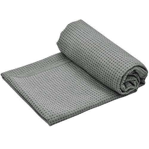 Fangehong Yogamattenauflage rutschfest mit Noppen für Pilates, Yogamatten Handtücher Groß mit Tasche für...