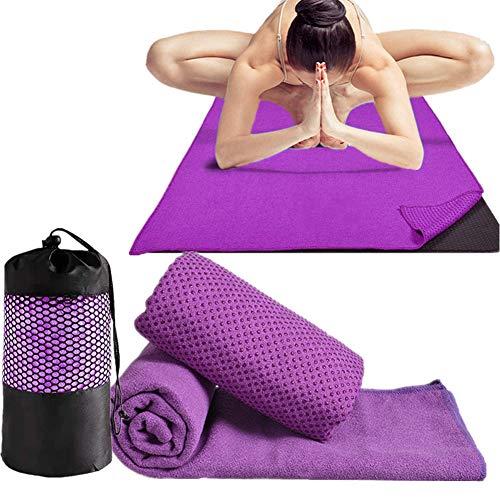 XINLINGLI Yoga Towel Yoga Handtuch Yogamatte Schweißtuch Rutschfestes Yogatuch Fitness Mats Handtuch rutschfest Heißes Yoga Handtuch Yogatücher für heißes Yoga Purple,-