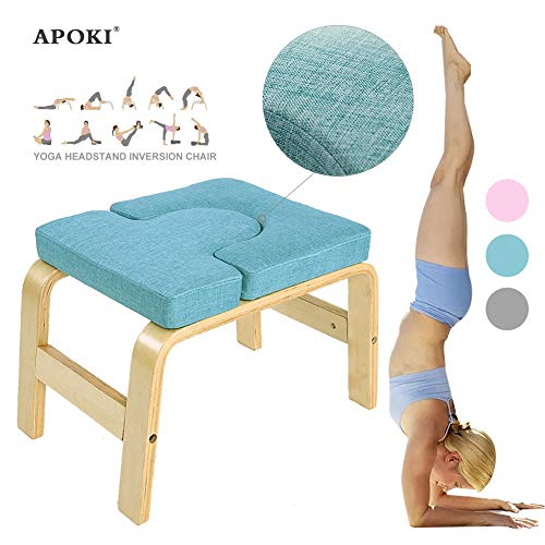 APOKI Yoga Kopfstandhocker,Safe Yoga Kopfstandstuhl,Canvas.Unterstützt Bis Zu 200 Kg,Yoga Hilft...