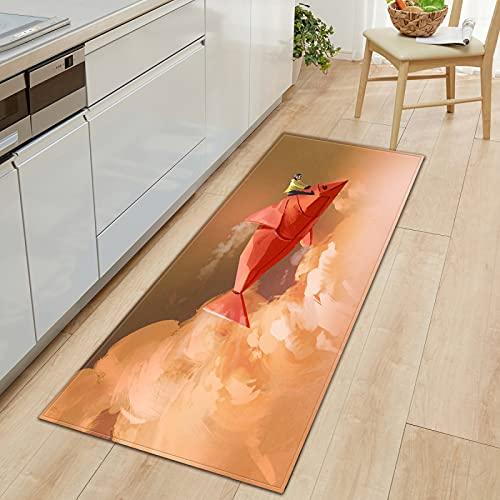 YDyun Teppich Wohnzimmer Schlafzimmer Kinderzimmer Teppiche rutschfeste Lange Bodenmatte für die Küche