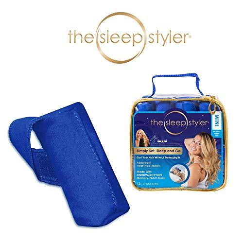 Allstar Innovations The Sleep Styler, die hitzefreien Lockenwickler für die Nacht für kurzes oder langes, feines Haar, Mini (7,6 cm Rollen), 12 Stück