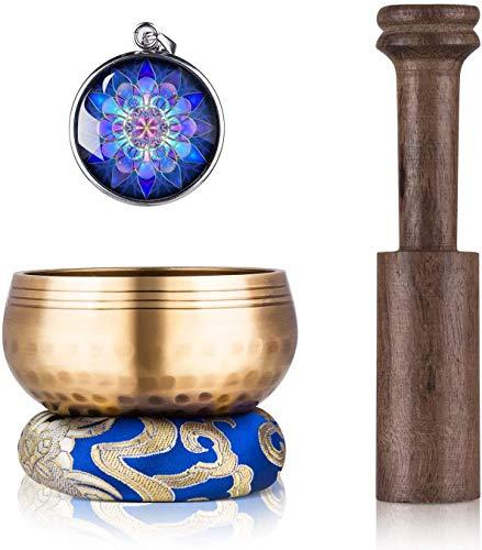 GPEESTRAC Tibetan Singing Bowl Set - Hilfreich für Meditation, Yoga, Entspannung, Chakra-Heilung, Gebet und...
