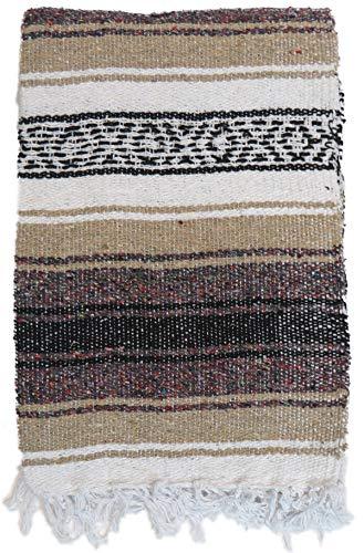 DistinctLook Mexikanische Falsa Decke/Überwurf, Teppich, 6 Farben, handgewebt, recyceltes Garn, Yoga,...