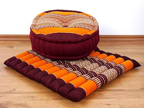 livasia Yogaset/Meditationsset L der Marke Asia Wohnstudio: 1 x Zafukissen (Yogakissen) + 1 x Sitzkissen...
