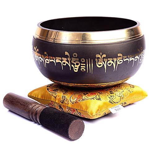 Tibetische Klangschalen-Set – einfach zu spielen, authentisch, handgefertigt für Meditation, Klang, 7...