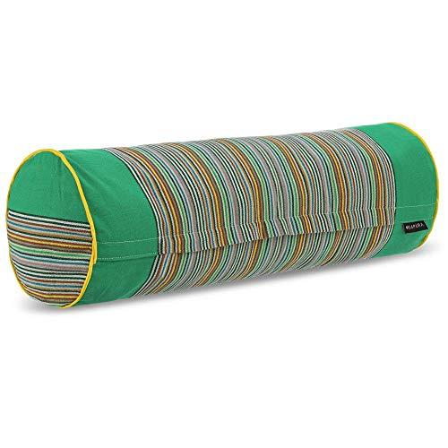 SAPURA Yogakissen lang - Dinkel Yoga Bolster aus Baumwolle - Nackenrolle Meditationskissen Kissenrolle