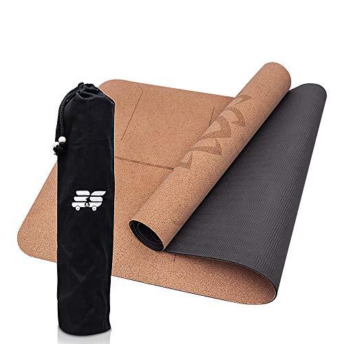 B&S Yogamatte aus Kork - 3mm - umweltfreundlich & rutschfest - ideale Dämpfung für Deine Gelenke - dünn &...