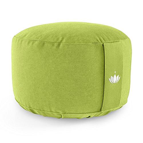 Lotuscrafts Yogakissen Meditationskissen Extra Hoch - Sitzhöhe 20cm - Waschbarer Bezug aus Baumwolle - Yoga...
