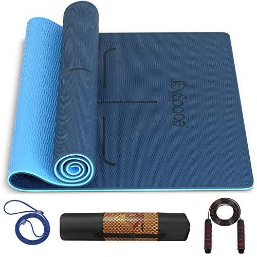 JOYSPACE Yogamatte Gymnastikmatte rutschfest aus Hochwertigen TPE Fitnessmatte Sportmatte für Yoga Pilates...
