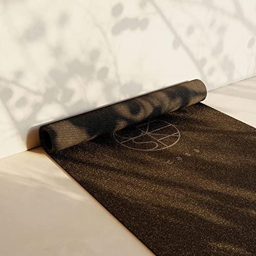 CASA ORIGIN Design Yogamatte aus Kork und Naturkautschuk Nachhaltig und Fair (Schwarz)